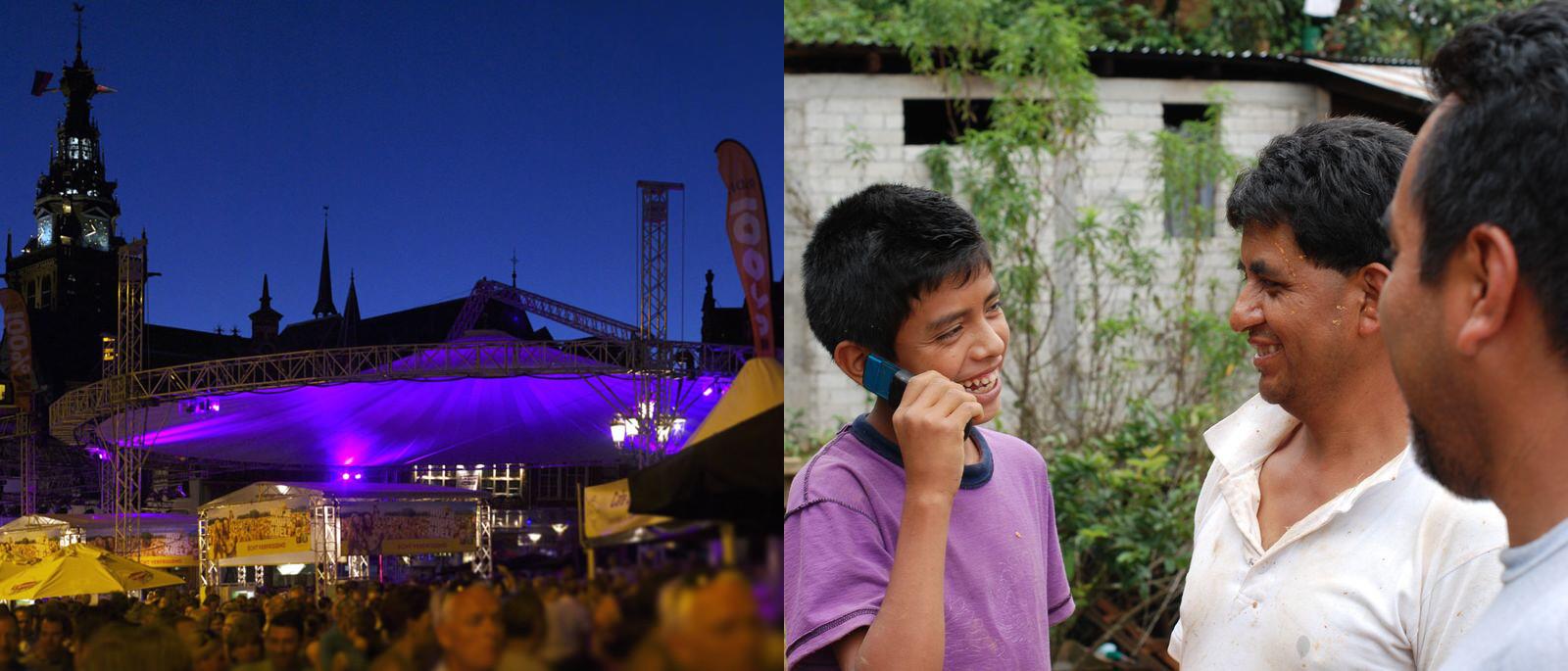 Private network covering the city of Nijmegen, Netherlands / a villager makes a call in Santa Maria Yaviche, Mexico